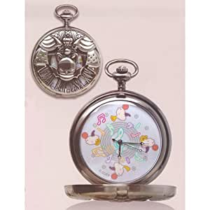 Final Fantasy XIV design pocket watch silver (Moogle)