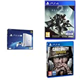 Pack PS4 Pro Blanche  + Call of Duty : World War II + Destiny 2