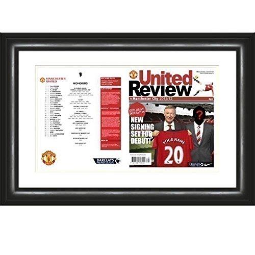 Personalised Man Utd Match Day Programme