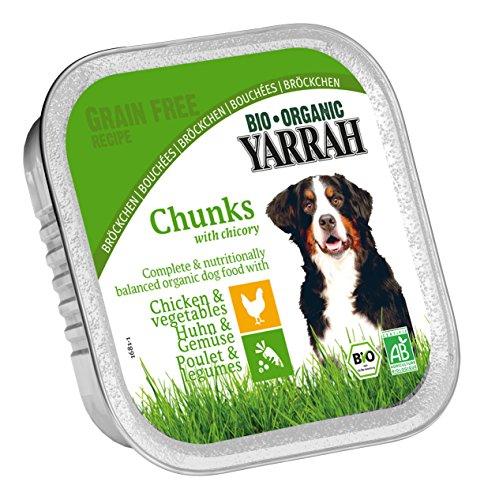 Yarrah Bröckchen Huhn mit Gemüse 150 g Bio Hundefutter, 14er Pack (14 x 0.15 kg)