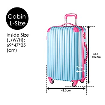 "Travelhouse Executive Business Bag Luggage Travel Flight Case Suitcase New (28"", Blue & Rose) 4"