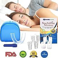 Preisvergleich für Anti-Schnarch-Bundle Von snoreninja–PREMIUM QUALITÄT Mund Stück und Nase Belüftungsschlitze für Schnarchen Prävention...