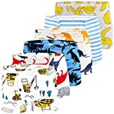 Auranso Boys Underwear, Dinosaur Truck Toddler Boys Boxer Shorts Briefs 6 Pack Baby Kids Cotton Underpants 2-9 Years