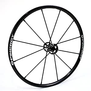 "24"" Spinergy LX Wheelchair Wheel with Black Spokes (Black Hub)"