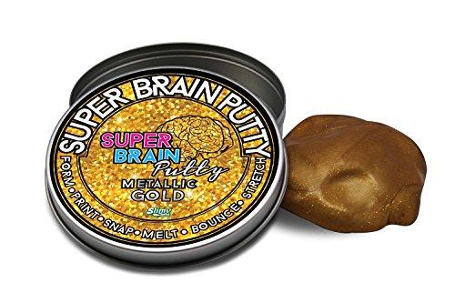Slimy 33984 - Masilla para Cerebro (Metal), Color Dorado