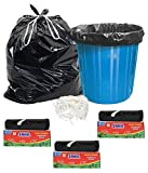 Sahil Extra Strong Biodegradable Garbage Bag Pack of 6, Size (Large) (90 Pcs.)