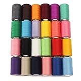 KING DO WAY Naehgarn 24 farben 1000 meter polyester naehgarne spulen naehmaschine zubehoer Naehmaschinengarn