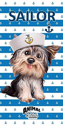 'Animal Club Serviette de bain 'Marinière pour chien 70x 140cm serviette de plage