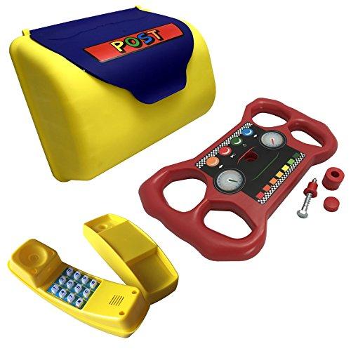 XXL Zubehör Set für Spielturm Briefkasten Telefon & Lenkrad Handy Steuerrad Post