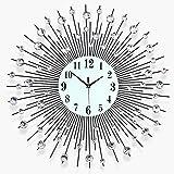 XYL Orologio da Parete Creativo, Orologio Silenzioso Moderno Senza ticchettio con Un Set di Adesivi murali in Cristallo Decorazione Artistica lucentezza per Soggiorno Ufficio Studio (3 Taglie), 65cm