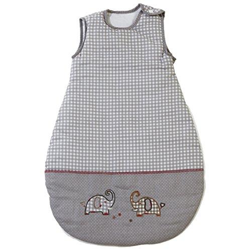 Preisvergleich Produktbild Baumwolle Schlafsack Jumbotwins, 70 cm lang, liebevolle Elefantenmotive • Jumbotwins Elefant Kinder Kleinkind Baby Winter