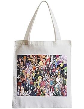 Große Tasche Sack Einkaufsbummel Strand Schüler anime manga Patchwork