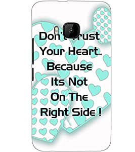 HTC ONE M9S TEXT Back Cover by PRINTSWAG