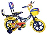 #4: NY Bikes Buzzer 14T Steel Kids Bicycle for 2 to 4 Years Kids (Blue & Yellow)