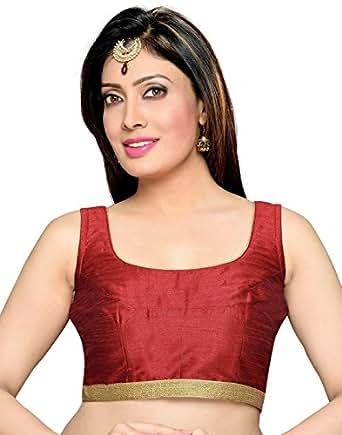 Studio Shringaar Polyester Saree Blouse(SIIMDM1814M_34_Maroon_XX-Small)