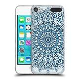 Head Case Designs Offizielle Julia Grifol Mandala in Blau Böhme Soft Gel Hülle für Apple iPod Touch 6G 6th Gen