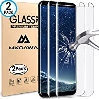 Samsung Galaxy S9 Cristal Templado, MKOAWA [2 Unidades] 0.25mm 9H Dureza, Ultra-trasparente, Alta Definicion, Ajuste Perfecto,Protector de Pantalla para Samsung Galaxy S9