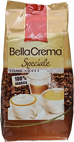 Melitta Bella Crema Cafe Speziale Bohnen, 4er Pack (4 x 1 kg)