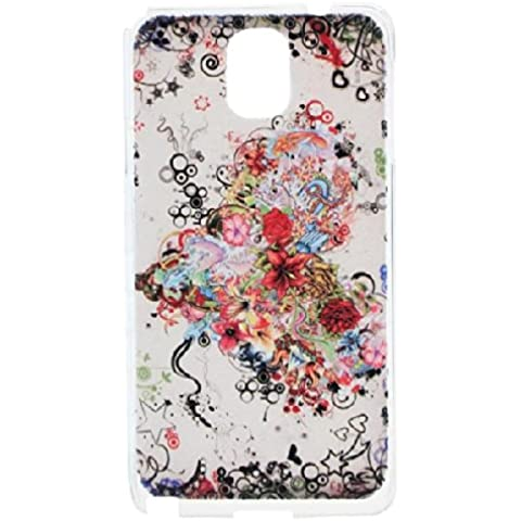 Blooming Modelo de flores en relieve Case para Samsung Galaxy Note 3.