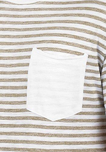 Blend Malle Herren T-Shirt Kurzarm Shirt Rundhalsausschnitt Brusttasche Steifen Aus 100% Baumwolle Safari Brown (75115)
