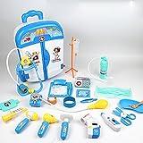 LZFASD Kinder Kinder Spielzeug Set Ärzte Krankenschwestern Pretend Spielen Rollenspiele Cosplay Medical Kit Trolley Fall Set Für 3 + Jungen Mädchen Educational Geburtstag Weihnachtsgeschenk 22ST,Blue
