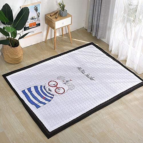 Small-rugs Baby Kinderzimmer Teppich Kleinkind Kinder Spielmatte Für Schlafzimmer Dekor Wohnzimmer Teppiche Weich & Amp; Dicke rutschfeste Kriechmatte A-145 * 195 cm -
