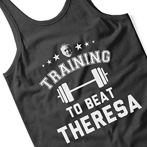Jeremy Corbyn Training To Beat Theresa Women's Vest Black