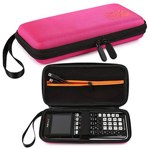 Custodia per calcolatrice grafica, calcolatrice rigida EVA con custodia Custodia protettiva Custodia inclusa Tasca a rete per TI-83 Plus TI-84 Plus CE TI-89 Titanium HP50G e Moreaa (Pink)