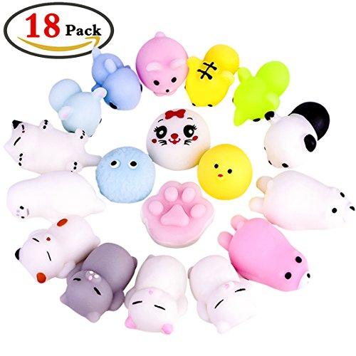 ZesGood 18 Pack Kawaii Squishies Toys Squishy Toys Squishy Packages Animal Squishy Mini Stress Toys