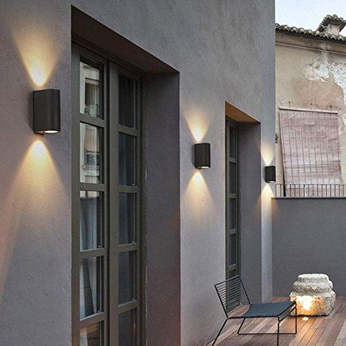 Wasserdichte Wandleuchte Im Freien Seeksung Modernes Design-Hof-Balkon-Beleuchtung Led-Innenlampen-Treppen-Gang-Glasleuchten 1 Stücke, A