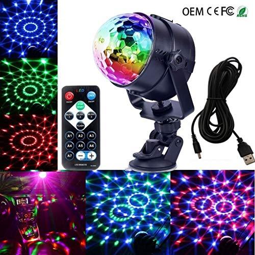 Disco kugel, USB Magic Ball Licht 5V Mini Car Sound Control DJ Licht Weihnachten Halloween Atmosphäre Dekorative Licht stage disco F1 -