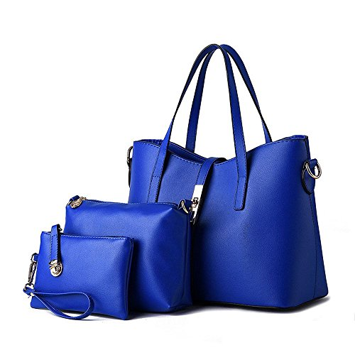 koson-man-womens-3-in-1-pu-leather-sling-vintage-zipper-tote-bags-top-handle-handbagblue