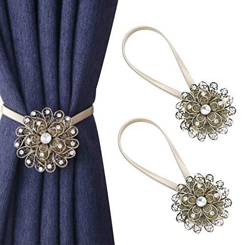 Chinashow 1 para Vintage Magnetische Vorhang Raffhalter Kristall Dekorative Holdback Halter Krawatte Zurück Clips Holdbacks Schnalle, C01