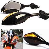Universal Motorrad Spiegel Mit LED Blinkleuchten Indikatoren Rückansicht Für Motor Motorrad Yamaha Honda Kawasaki Triumph