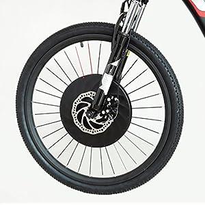 Controlador de motor a batería, todo en un juego de conversión en la rueda delantera de la bicicleta eléctrica 36V 240W con recargable USB teléfono soporte