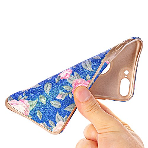 iPhone 7 Case, elecfan Flower Pattern Soft Cover Shell Phone Skin Super Slim Screen Protective Smart Case for Apple Iphone 7 4.7 inch A05