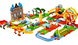 #6: Toyshine 4 in 1 Dream Train Track Combination Train Set Track with Lights and Music