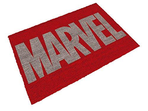 Felpudos Cómics SD Toys Felpudo con Diseño Logo Marvel, Fibra de Coc