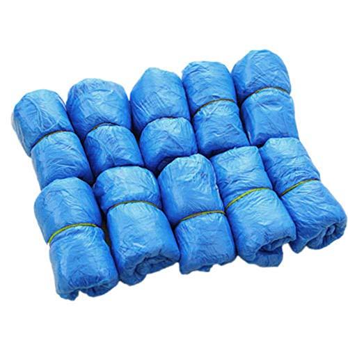 shyyymaoyi Einweg-Überschuhe, Rutschfest, Kunststoff, zum Reinigen, 100 Stück Mehrfarbig - Regen Mehrfarbige Teppiche