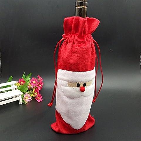 XJoel 3pcs bottiglia di vino Babbo Natale Borse di copertura