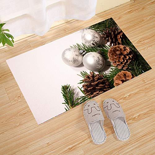 Vintage Style Brown Flowers Palm Leaves und Muster Parfüm Große Fußmatten, Durable Rubber Fußmatten, Non, Slip, Leicht zu reinigen, Waschbar Indoor, Outdoor Mat Eingang, Mikrofaserteppich mit Non -