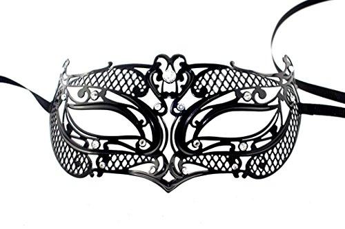 Schlicht und elegant Classy Lady Masquerade Halloween Mardi Gras Party Maske (Clown Film Beängstigend)