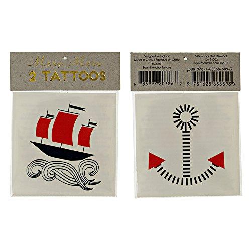 Tattoo-boot (Meri Meri Boot und Anker-Tattoos)