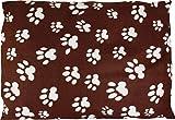 Karlie Flamingo 61544 Hundekissen Eckig, Paws, braun 91 cm x 70 cm x 4 cm, aus flecce
