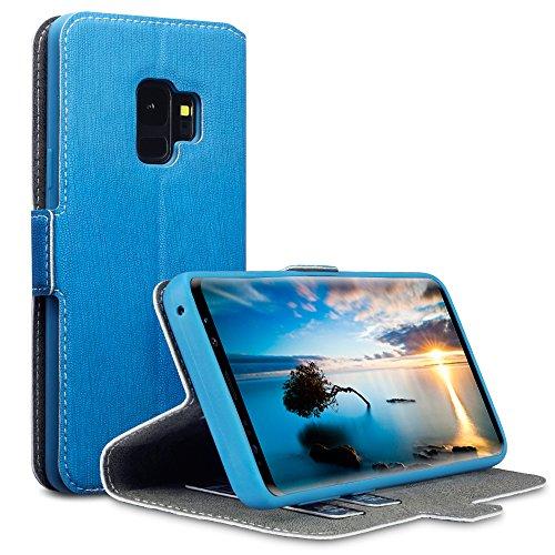 Coque Samsung S9, Terrapin Étui Housse en Cuir Ultra-mince Avec La Fonction Stand pour Samsung Galaxy S9 Étui