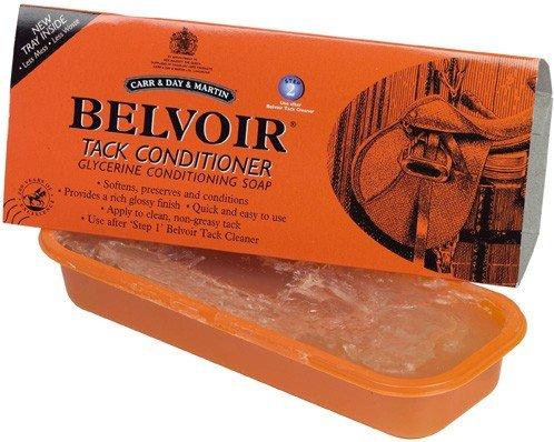 Belvoir Step 2 Lederpflegeseife in Schale, 250g - Reine, klare Seife mit Kokosnussöl& Glyzerin um Leder geschmeidig zu halten, langlebig zu machen und zu pflegen -