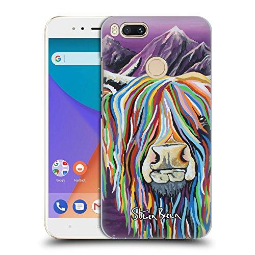 Offizielle Steven Brown Wullie & Maggie Hochland Kuh Sammlung 2 Ruckseite Hülle für Xiaomi Mi A1 / Mi 5X (Taschen Maggie Brown)