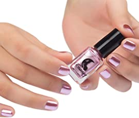 WILLTOO Mirror Nail Polish Plating Paste Metal Color Stainless Steel Size:5.8cm*5.8cm Pink