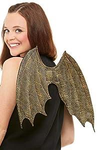 Smiffys 50764 - Alas de dragón, unisex, color dorado