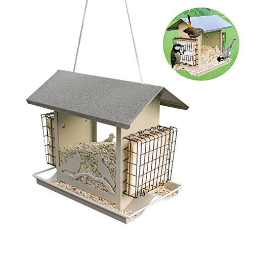 ZOETOW Bird Feeder Outdoor Fütterung Maschine Automatische Haustier Wild Dekoration Garten Suspension Metall